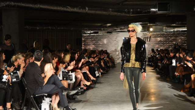 Model Lisa Siva walks at TRIBEZA Fashion Week, 2013